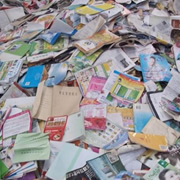 Waste paper material
